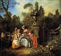 Nicolas Lancret - Lady and Gentleman with two Girls and a Servant - WGA12425.jpg