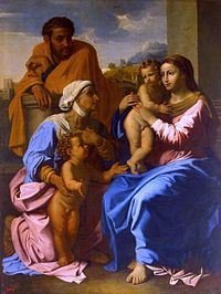 Nicolas Poussin - The Holy Family with St Elizabeth and John the Baptist - WGA18338.jpg