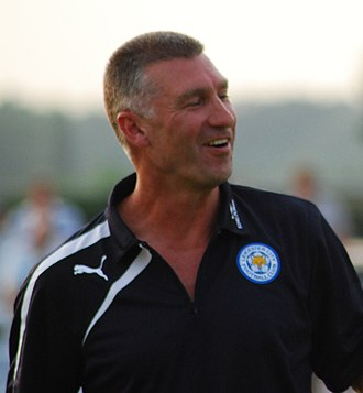 Nigel Pearson - Pearson at Leicester City training in 2013