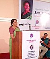Nirmala Sitharaman addressing the members of the Palakkad Management Association, ICAI & The Palaghat Chamber of Commerce at a session on GST, at Palaghat, Kerala.jpg