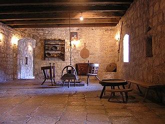 Njeguši - Interior of an old house in Njeguši
