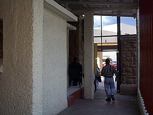 Nogales-Morley Gate Port of Entry - Entering the US through the Nogales-Morley Gate, October 2000