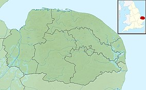 Map showing the location of NWT Cley Marshes