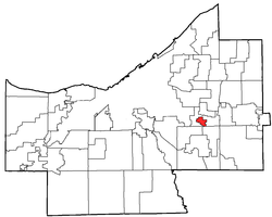 Location of North Randall in Cuyahoga County