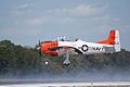 North American T-28B Trojan Navy N63NA Landing 04 TICO 13March2010 (14598871382).jpg