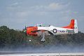 North American T-28B Trojan Navy N63NA Landing 04 TICO 13March2010 (14598871382).jpg