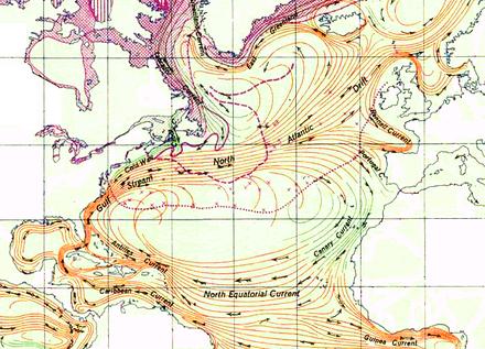 Схема течений северной