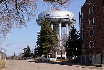 English: Water tower in , , Canada