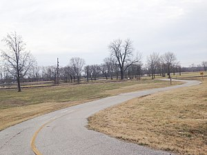 North Riverfront Park - The paved bike/walking trail in North Riverfront Park