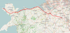 North Wales Coast Line - Image: North Wales Coast Line map