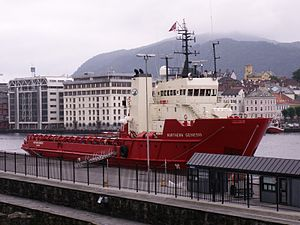 Platform supply vessel - The Norwegian PSV Northern Genesis in Bergen harbour