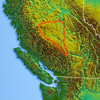 Chilcotin Plateau - Location of the Chilcotin Plateau
