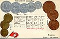 Numismatic postcard from the early 1900's - French Tunis.jpg
