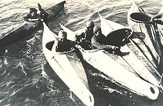 Yup'ik - Nunivak kayaks, August 1936