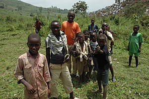 Nyanzale displaced persons camp children