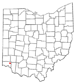 Location of Blue Ash, Ohio