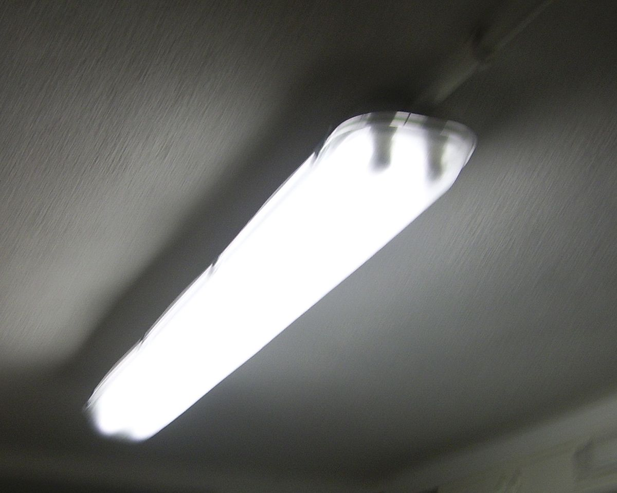 Fluorescent Light Over Kitchen Sink