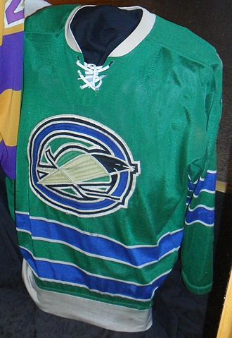 California Golden Seals - Oakland Seals jersey on display at the International Hockey Hall of Fame