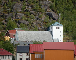 Loppa - View of Øksfjord Church