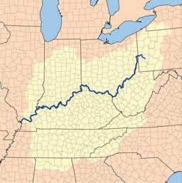 Ohioflodens afløbsområde
