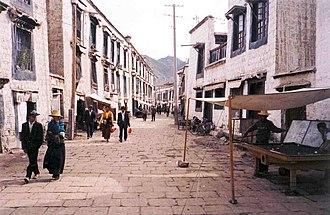 Barkhor - Old Barkhor street. 1993