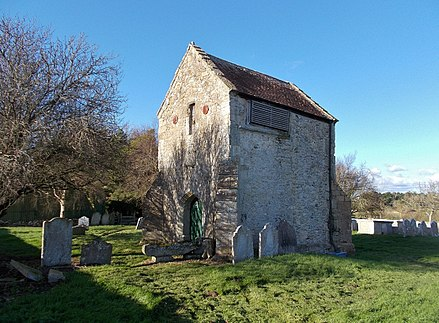 The remains of the old Church Old Church, Thorley, Isle of Wight, UK.jpg