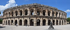 Old Roman Amfitheater of Nimes from the Southside - panoramio.jpg