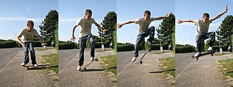 Ollie (skateboarding) - Modern ollie technique.