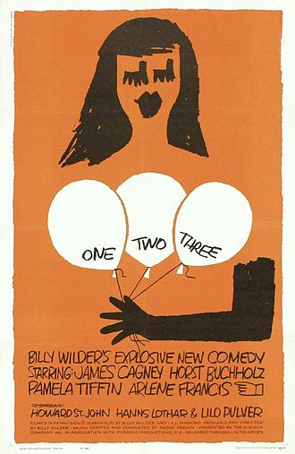 One, Two, Three - Theatrical release poster by Saul Bass