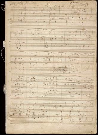 Violin Sonata No. 10 (Beethoven) - Beethoven's Manuscript, page 1
