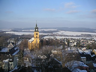 Augustusburg Place in Saxony, Germany