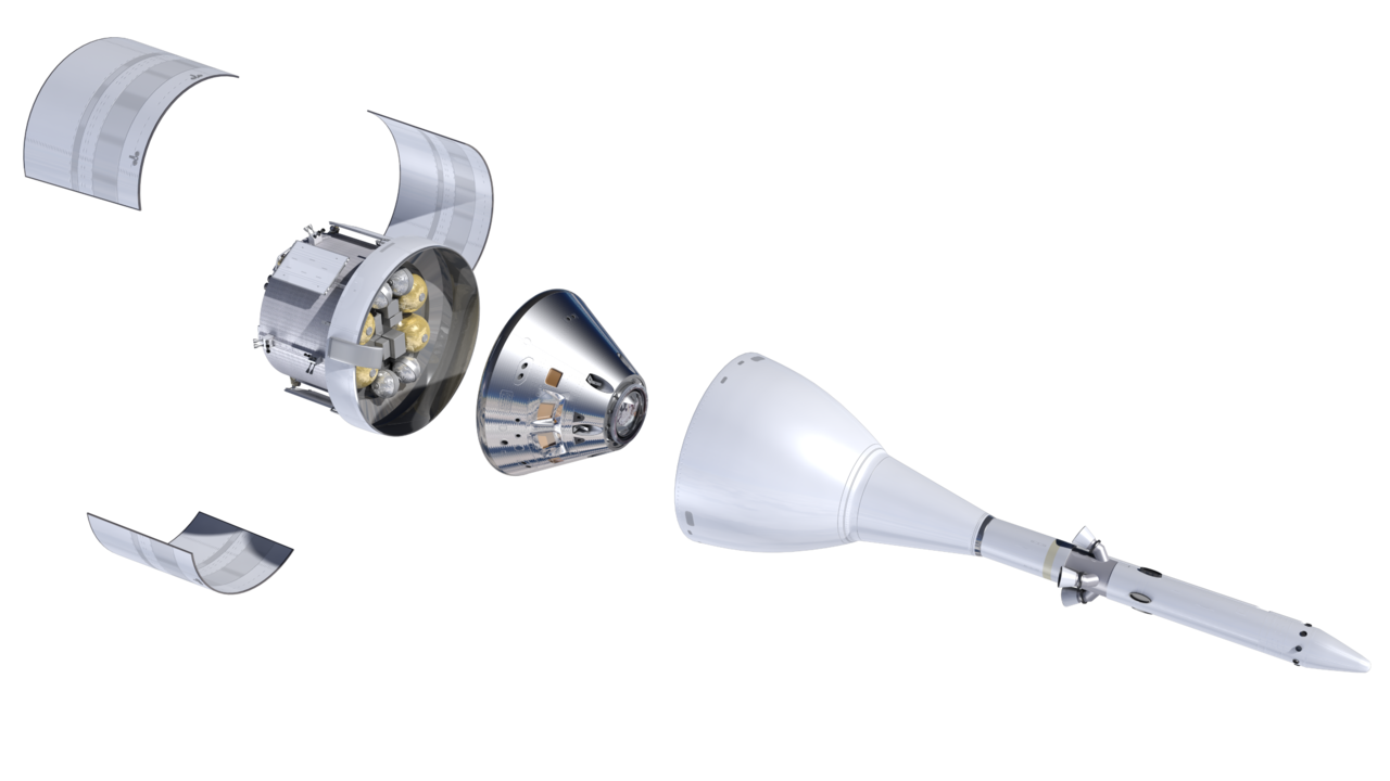 File:Orthographic view of Orion stack, exploded, top-front ...