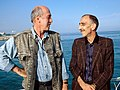Otar Ioseliani & Joao Cesar Monteiro, Venice Film Festival 1989.jpg
