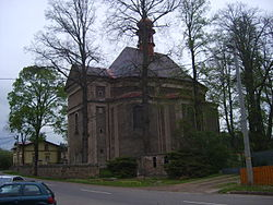Otovice Saint Barbara church general.JPG