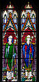 Our Lady's Island Church of the Assumption Chancel Window Saints Aidan and Iberius 2010 09 26.jpg