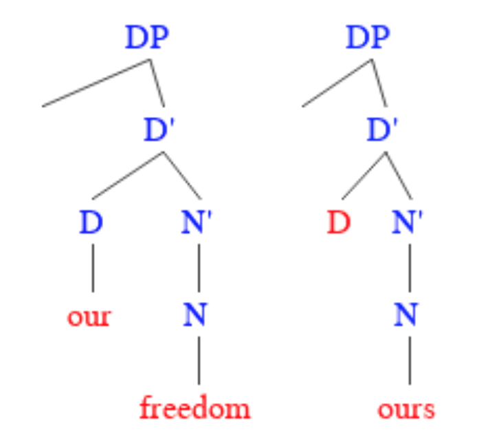 Our as a pronoun or determiner
