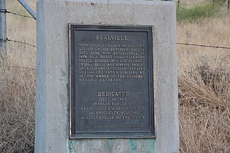 California Historical Landmarks in Kern County - Image: Owner Jeff Vickroy CHL 741 Bealville