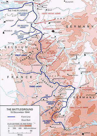 Army Group Oberrhein (Germany) - The situation at the Upper Rhine on 15 December 1944