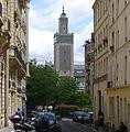 P1110335 Paris V minaret mosquée Paris rue du puits de l'Ermite rwk.JPG