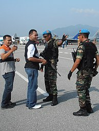 50746439ce796 Airmen from PASKAU with sky blue berets at LIMA 2013