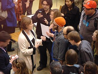 Progressive Conservative Association of Alberta - Alison Redford campaigning during the 2012 provincial election