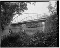 PERSPECTIVE VIEW LOOKING NORTHEAST - Mallaham Bridge, County Route M-6 spanning Riley Creek, Pandora, Putnam County, OH HAER OHIO,69-PAND.V,1-4.tif