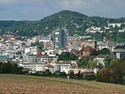Blick auf die Pforzheimer Innenstadt