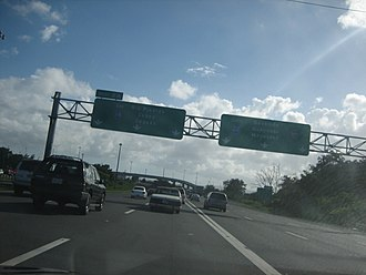 Puerto Rico Highway 18 - PR-18 begins from PR-22