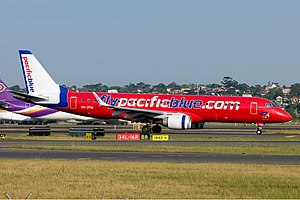 Pacific Blue Airlines (Virgin Blue Airlines) Embraer ERJ-190-100IGW 190AR SYD Li Pang.jpg