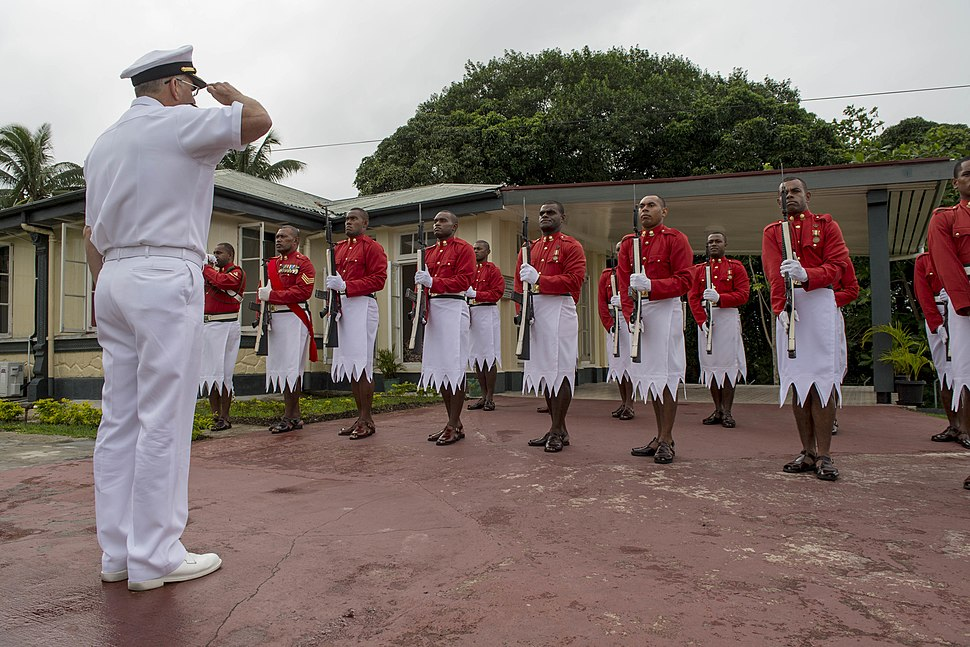 Pacific Partnership 2015 leaders visit Republic of Fiji Military Forces Strategic Headquarters 150609-F-YW474-056