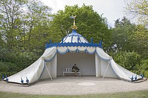 Folly - Modern reconstruction of the Turkish Tent, a permanent structure at Painshill, Surrey