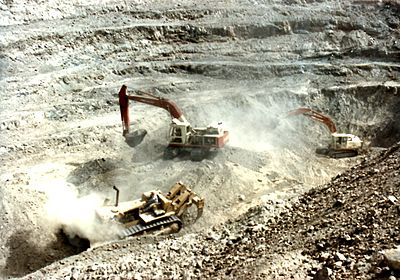 Surface mining in Sindh. Pakistan has been termed the 'Saudi Arabia of Coal' by Forbes. Pakistan Chrome Mines20120126 16100237 0003.jpg