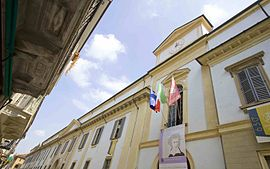 Palazzo centrale dell'Università di Pavia in Corso Strada Nuova, 65