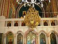 Palestine, Monastery of Saint Theodosius (interior with chandelier).jpg